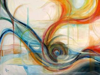 Oil  & Panda on canvas 2005 100x90