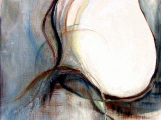 Spreding Wings 1 Oil  & Panda on canvas 2005 80x120_