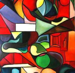 abstrait 102-75X110 cm =oil on canevas 889x1302