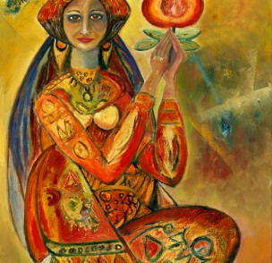 Woman with pomegranate.art-5
